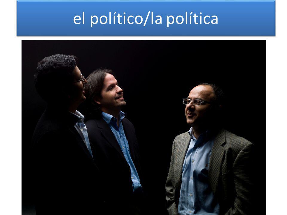 el político/la política