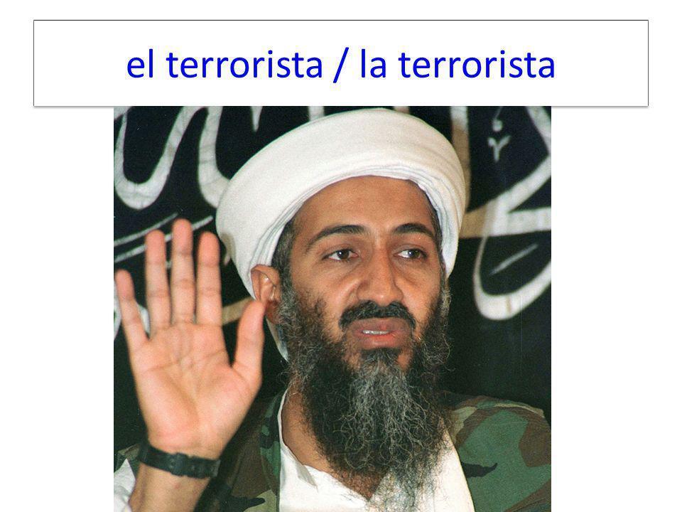 el terrorista / la terrorista