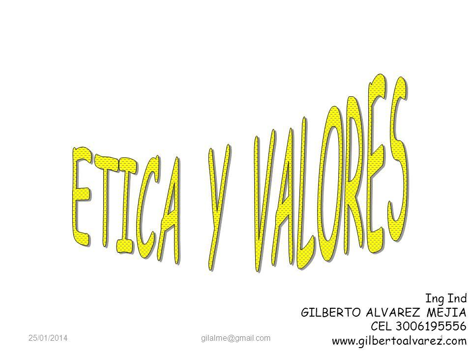 25/01/2014gilalme@gmail.com1 Ing Ind GILBERTO ALVAREZ MEJIA CEL 3006195556 www.gilbertoalvarez.com