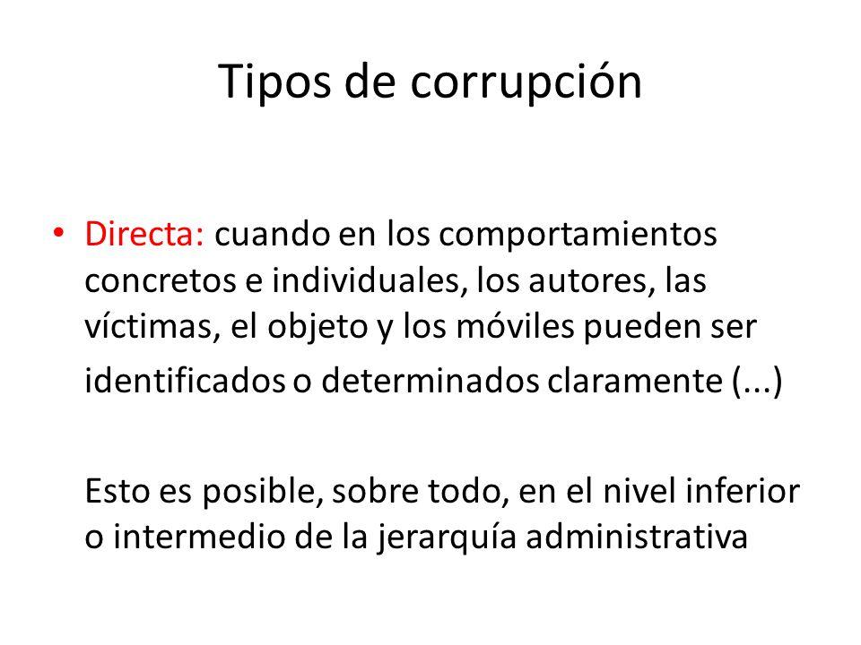 Generalidades El problema del fenómeno de la corrupción es esencialmente político, y su consecuencia más relevante es que desemboca en un proceso de e