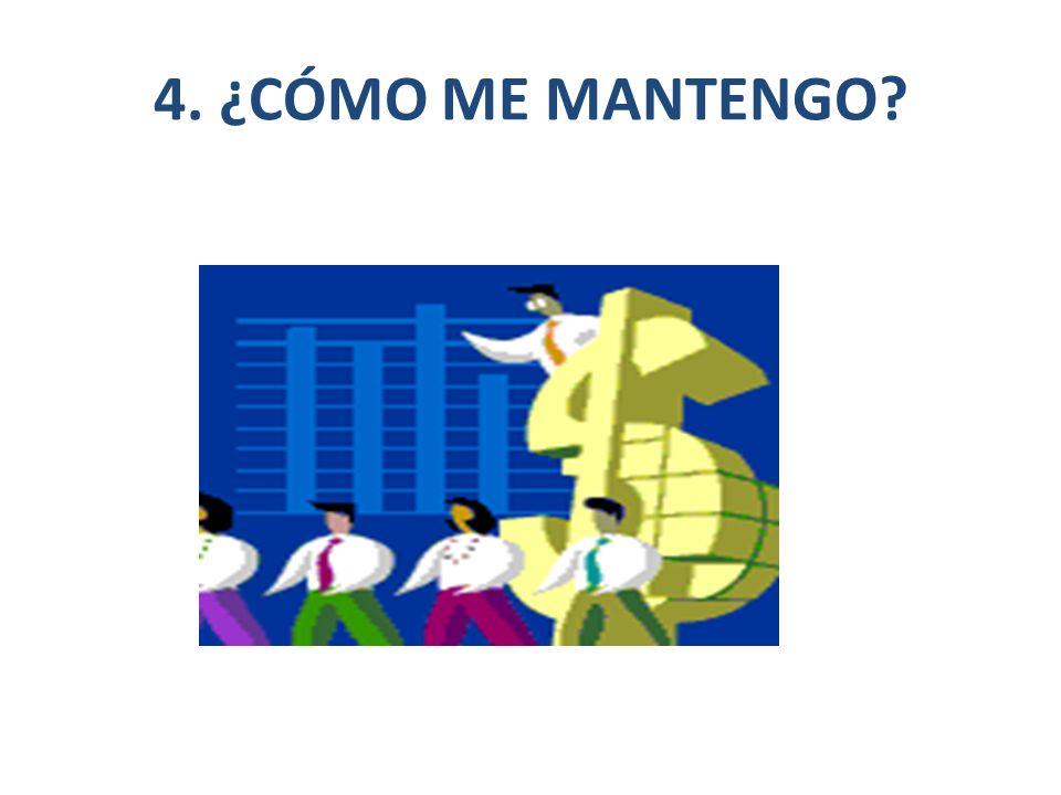 4. ¿CÓMO ME MANTENGO?