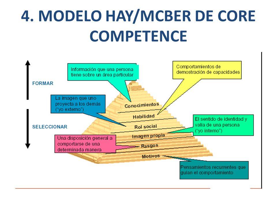 4. MODELO HAY/MCBER DE CORE COMPETENCE