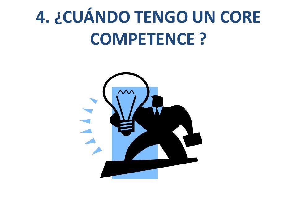 4. ¿CUÁNDO TENGO UN CORE COMPETENCE ?