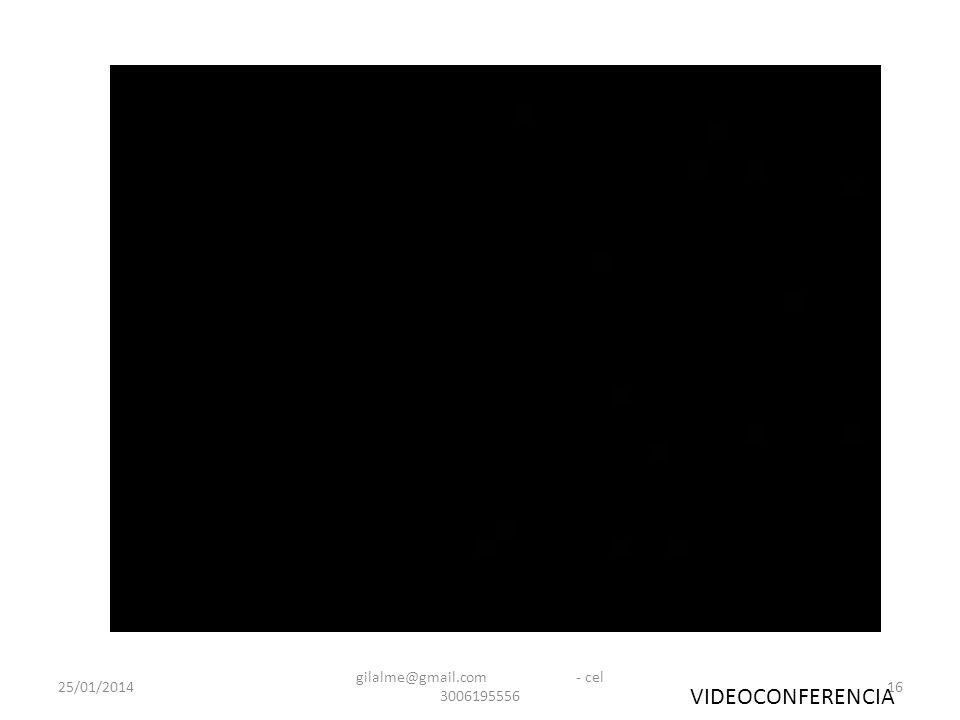 25/01/2014 gilalme@gmail.com - cel 3006195556 16 VIDEOCONFERENCIA