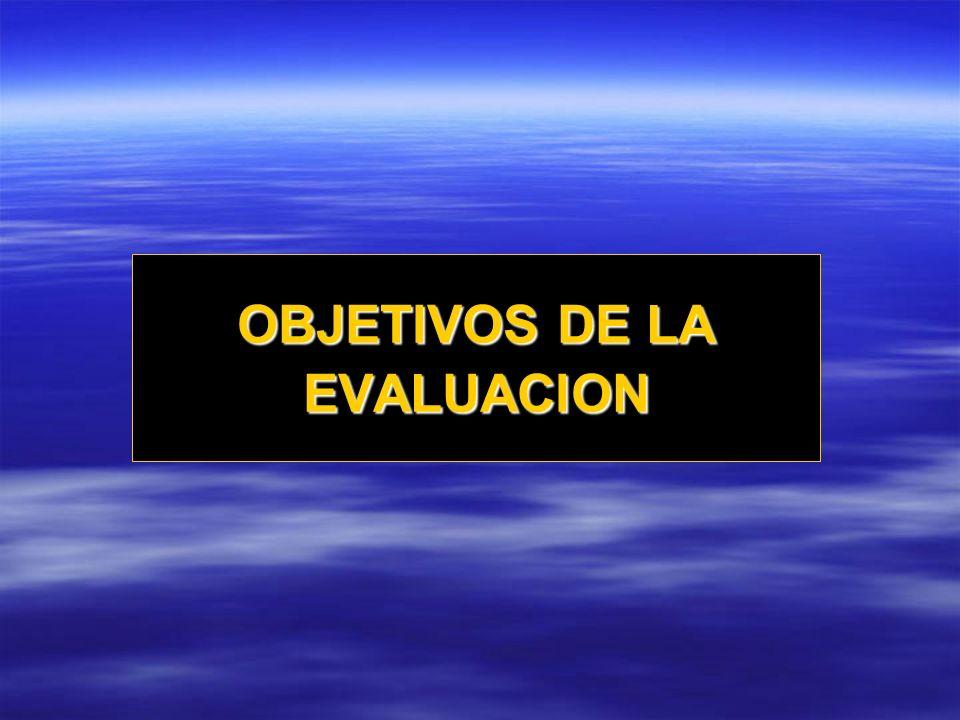 NORMATIVOS CONCEPTUALES ORGANIZACIONALES ASPECTOS BÁSICOS DE LA EVALUACIÓN DE LA EVALUACIÓN