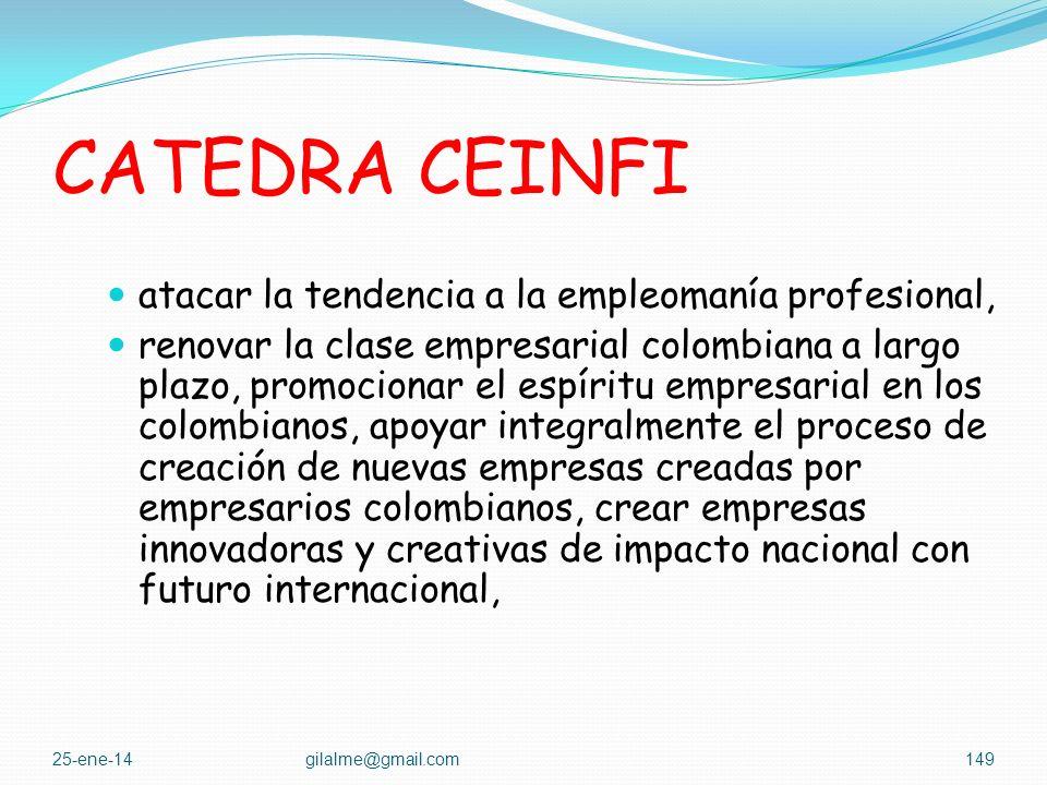 CATEDRA CEINFI El Ministerio de Comercio Exterior, Industria y Turismo, tomo la decisión de apoyar en forma directa procesos educativos que permita: a