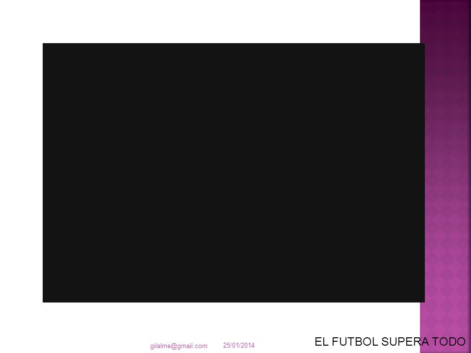 25/01/2014 gilalme@gmail.com EL FUTBOL SUPERA TODO