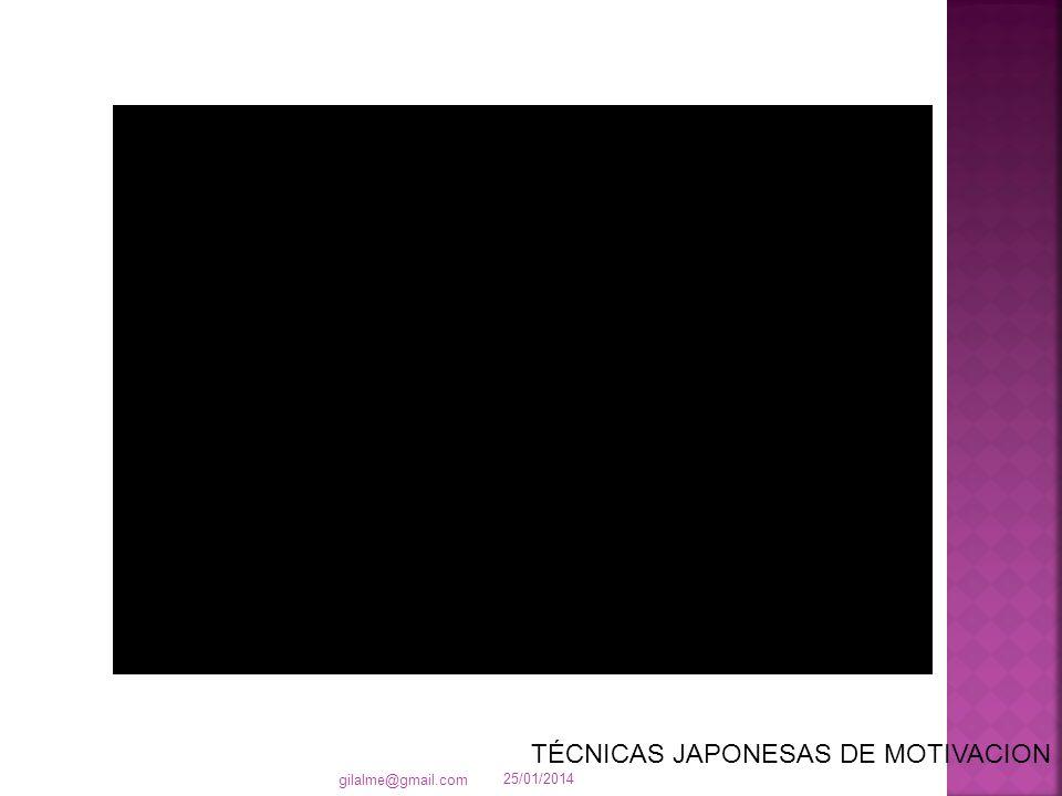 25/01/2014 gilalme@gmail.com TÉCNICAS JAPONESAS DE MOTIVACION