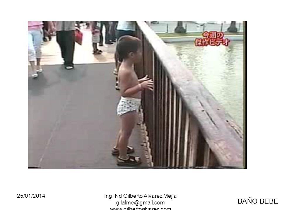 25/01/2014Ing INd Gilberto Alvarez Mejia gilalme@gmail.com www.gilbertoalvarez.com BAÑO BEBE