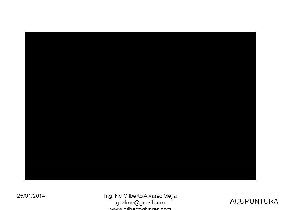 25/01/2014Ing INd Gilberto Alvarez Mejia gilalme@gmail.com www.gilbertoalvarez.com ACUPUNTURA