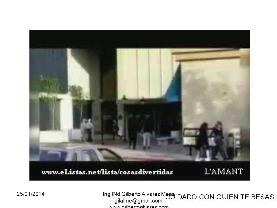 25/01/2014Ing INd Gilberto Alvarez Mejia gilalme@gmail.com www.gilbertoalvarez.com CUIDADO CON QUIEN TE BESAS
