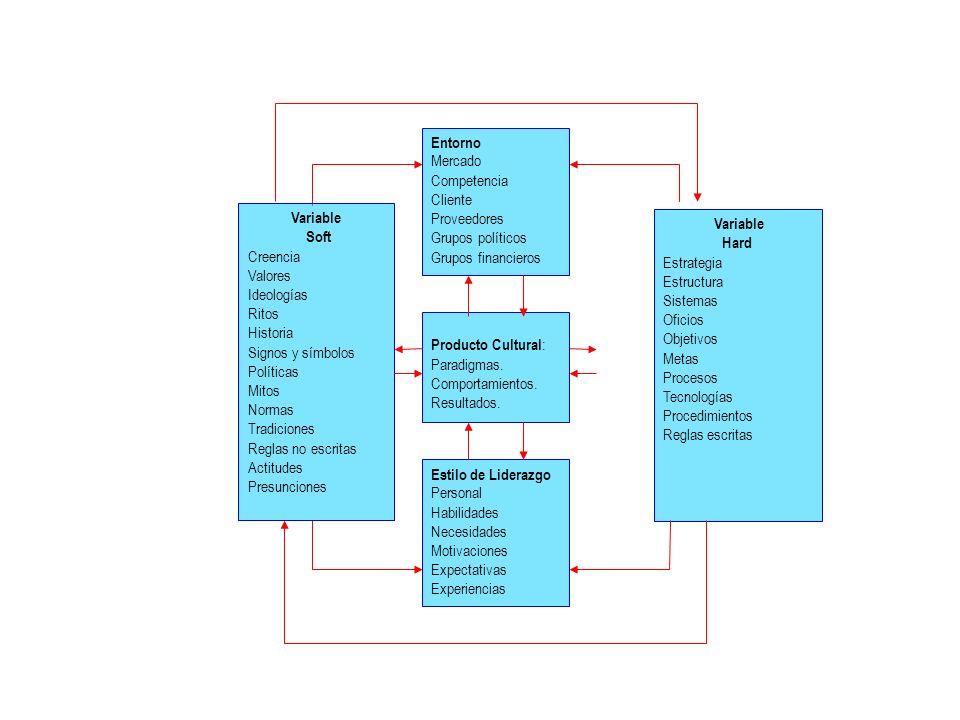 Variable Hard Estrategia Estructura Sistemas Oficios Objetivos Metas Procesos Tecnologías Procedimientos Reglas escritas Entorno Mercado Competencia C