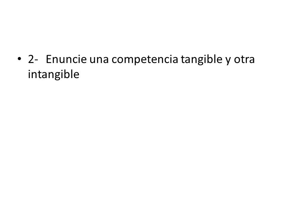 R -Competencias tangibles: – Conocimientos, habilidades – Competencias intangibles: Autoimagen, valores, personalidad, motivaciones