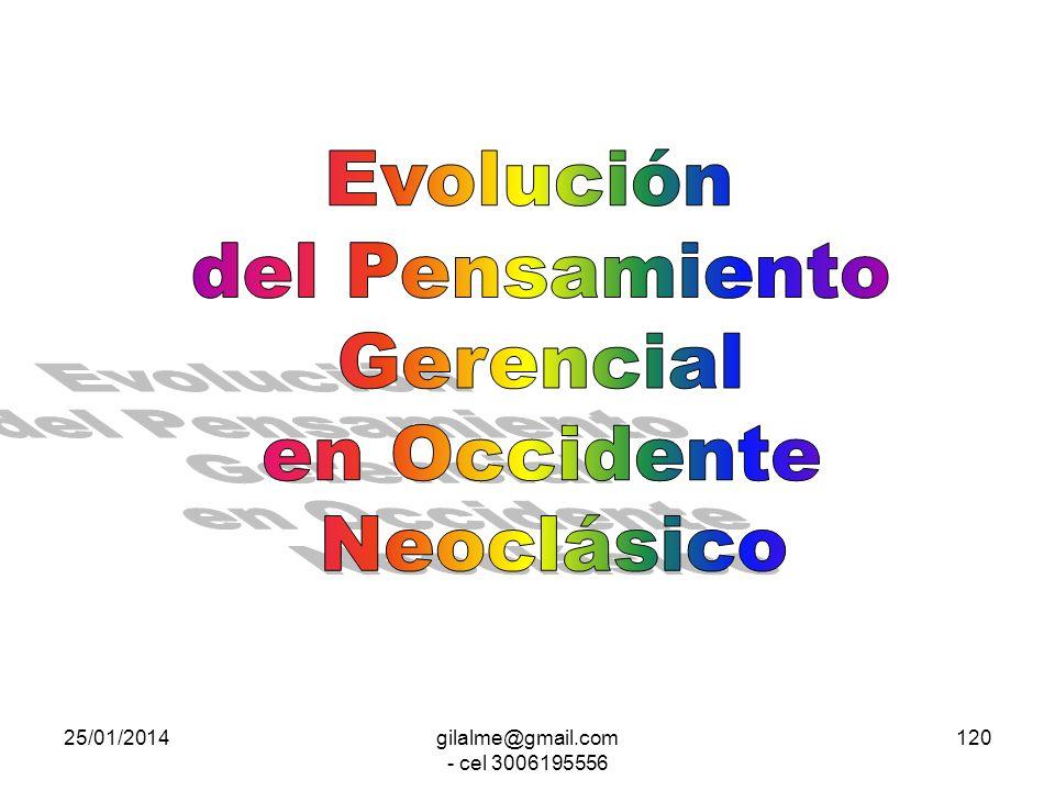 25/01/2014gilalme@gmail.com - cel 3006195556 119 CONCEPTUALIZACIONES TÉCNICAS de ORGANIZACIÓN TÉCNICAS de GESTIÓN ***