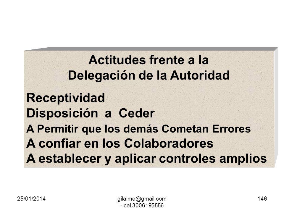 25/01/2014gilalme@gmail.com - cel 3006195556 145 Delegación de la Autoridad Funcional Delegación de la Autoridad Implica Asignar Tareas, Cumplir Tarea