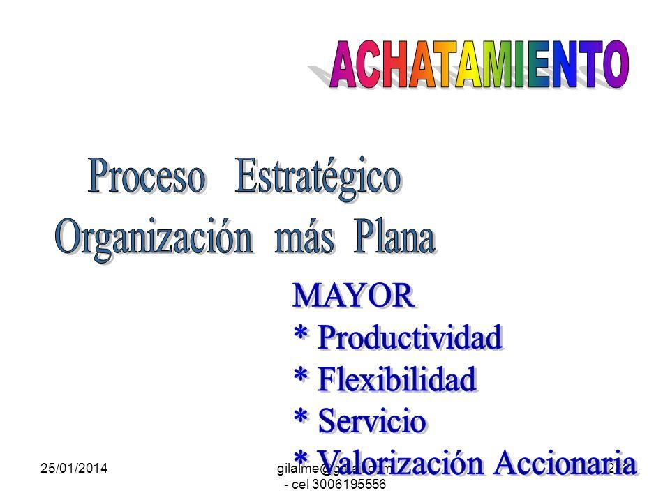25/01/2014gilalme@gmail.com - cel 3006195556 231 Transformar las Estructuras Piramidales para Convertirlas en más Planas. Mejorar el tiempo de respues