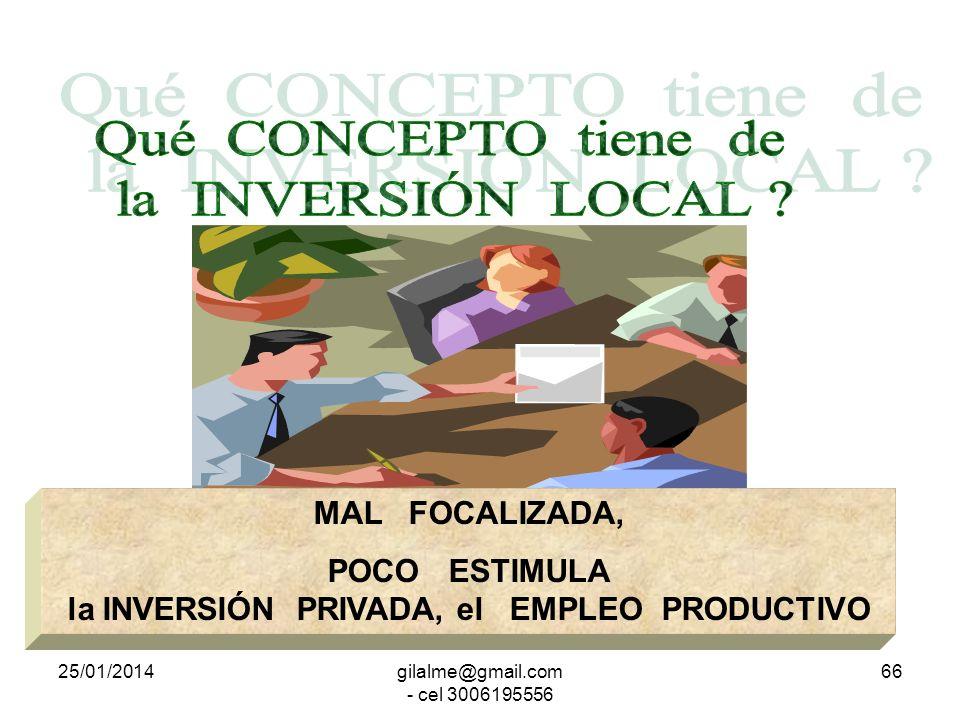 25/01/2014gilalme@gmail.com - cel 3006195556 65 SI; RIQUEZA COLECTIVA