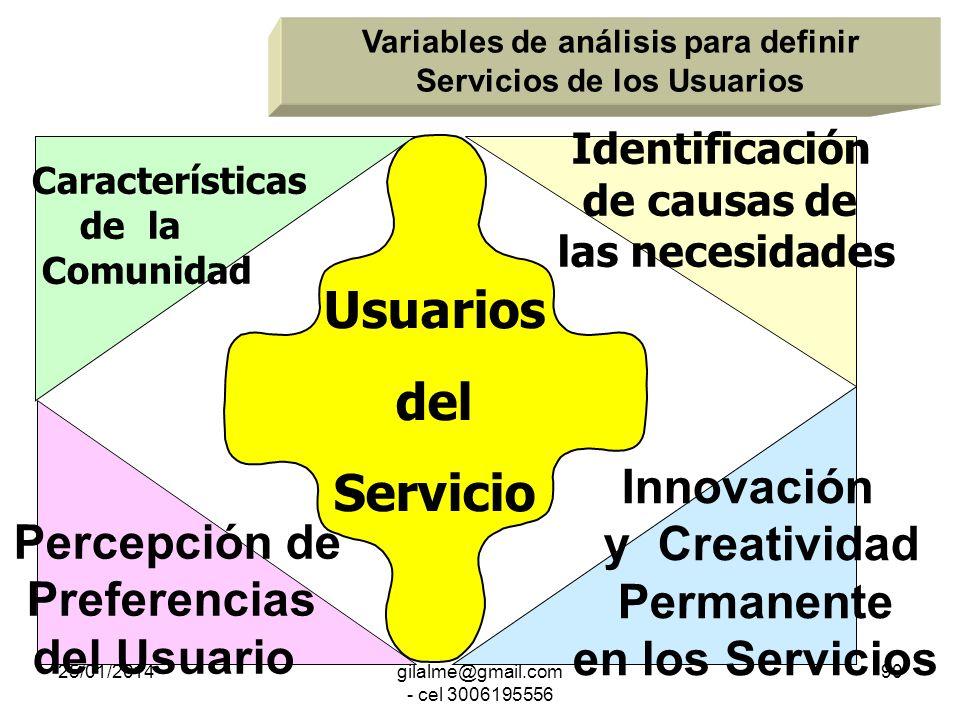 25/01/2014gilalme@gmail.com - cel 3006195556 89 ¿Cómo interrelacionarnos con el usuario para mejorar el servicio que recibe, mayor utilidad y satisfac