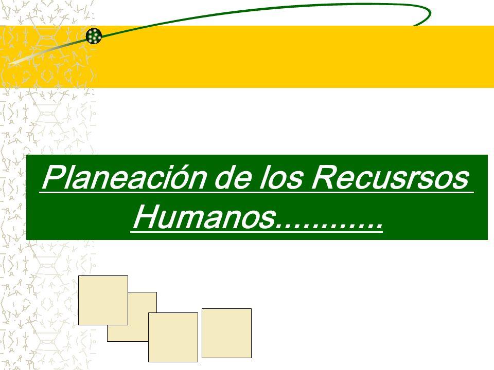Planeación de los Recusrsos Humanos............