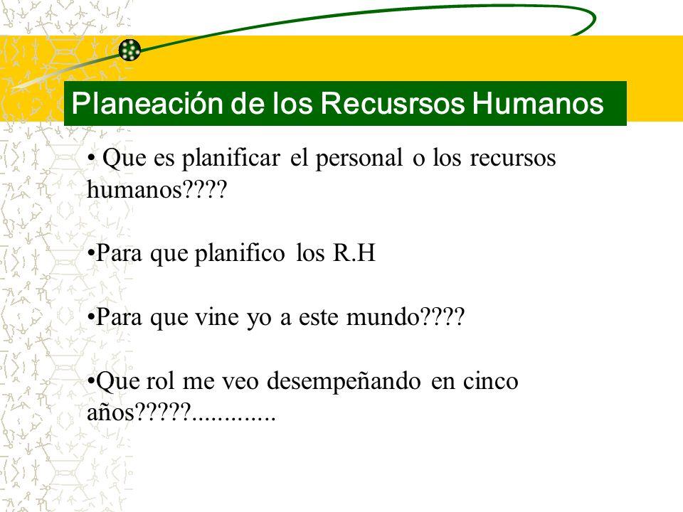Que es planificar el personal o los recursos humanos .