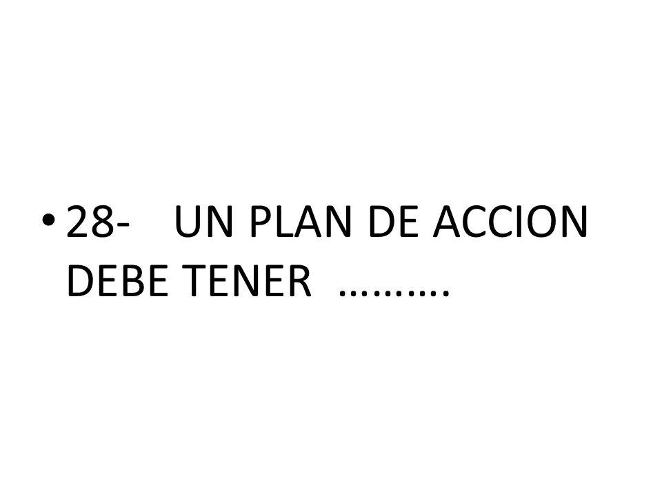 28-UN PLAN DE ACCION DEBE TENER ……….