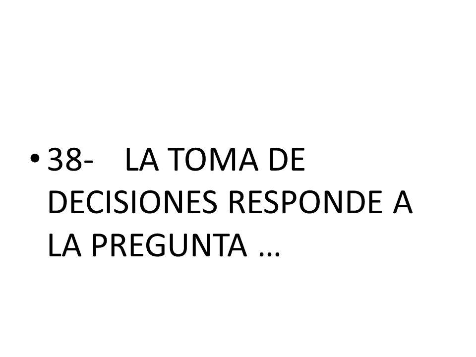38-LA TOMA DE DECISIONES RESPONDE A LA PREGUNTA …