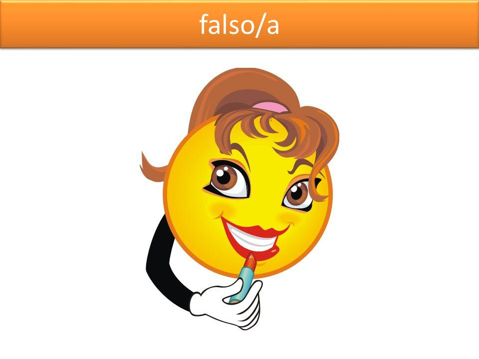 falso/a