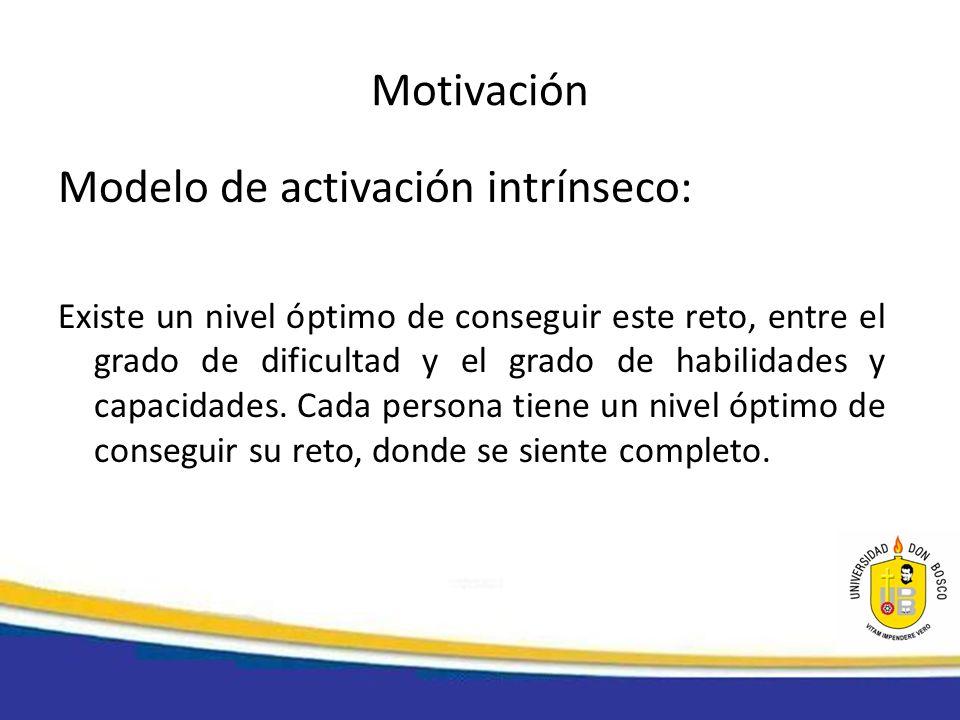 Motivación La motivación de una persona depende de: 1.