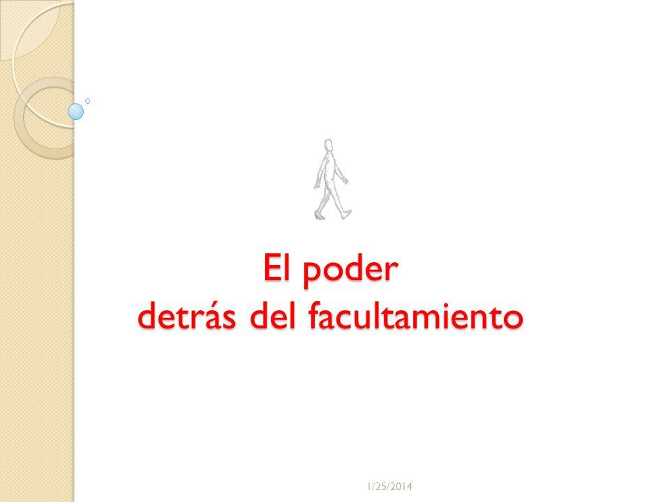 El poder detrás del facultamiento AUTOLIDERAZGO Motivacion y Empowerment 1/25/2014