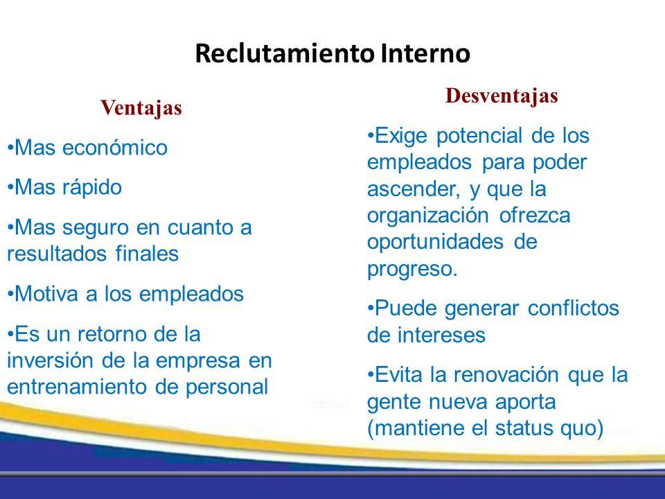 Ventajas Mas económico Mas rápido Mas seguro en cuanto a resultados finales Motiva a los empleados Es un retorno de la inversión de la empresa en entr