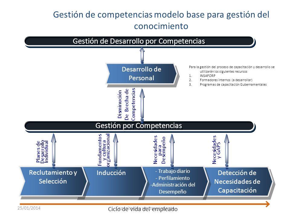 Identificación y gestión de competencias 25/01/2014Maestría en Gestión de la Calidad