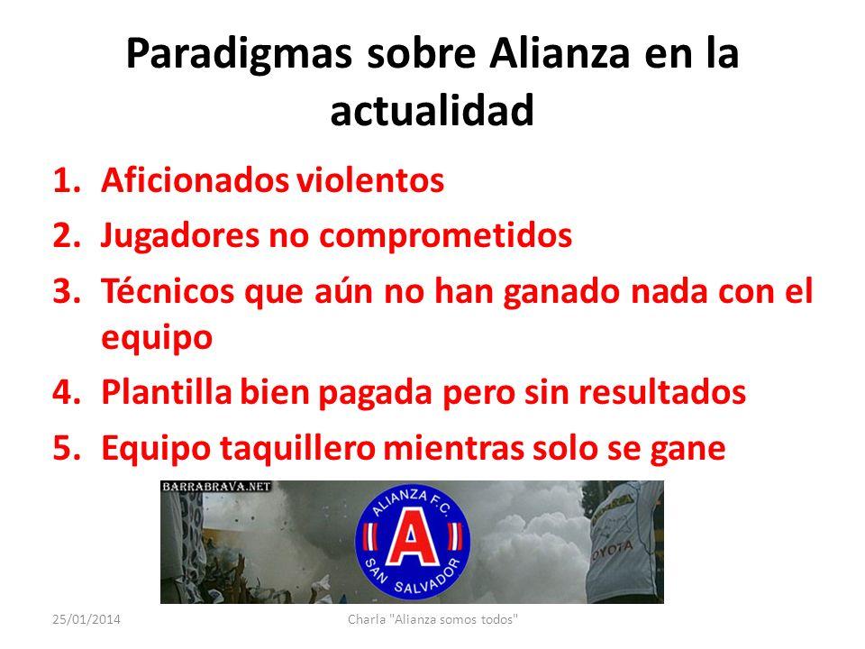 Que se le pide a Alianza FC.