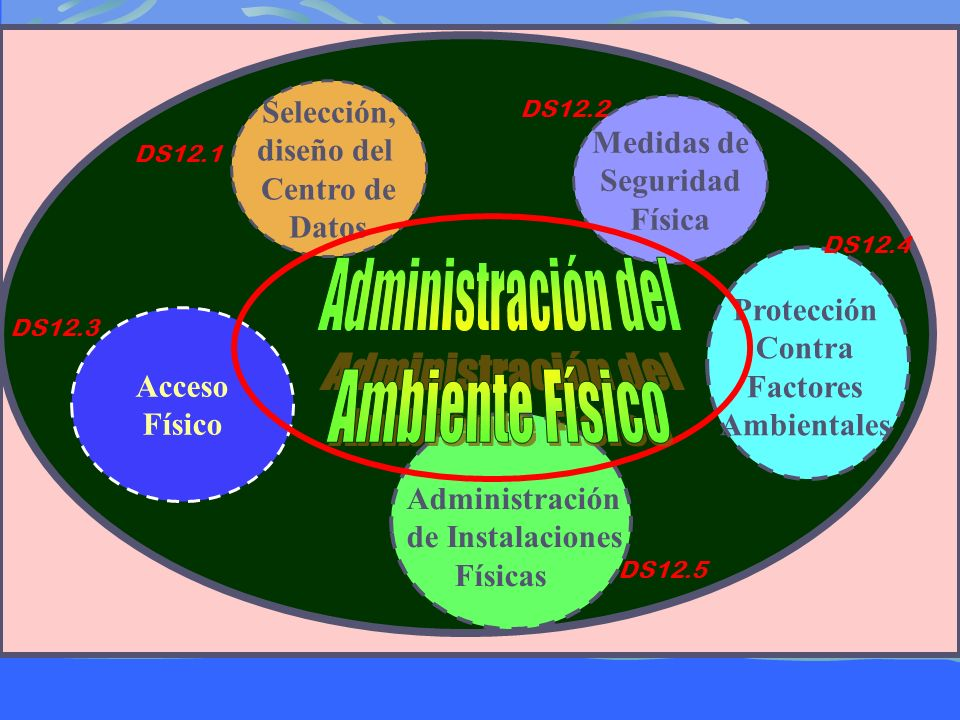 Acceso Físico Administración de Instalaciones Físicas Protección Contra Factores Ambientales Selección, diseño del Centro de Datos Medidas de Seguridad Física DS12.1 DS12.2 DS12.3 DS12.5 DS12.4