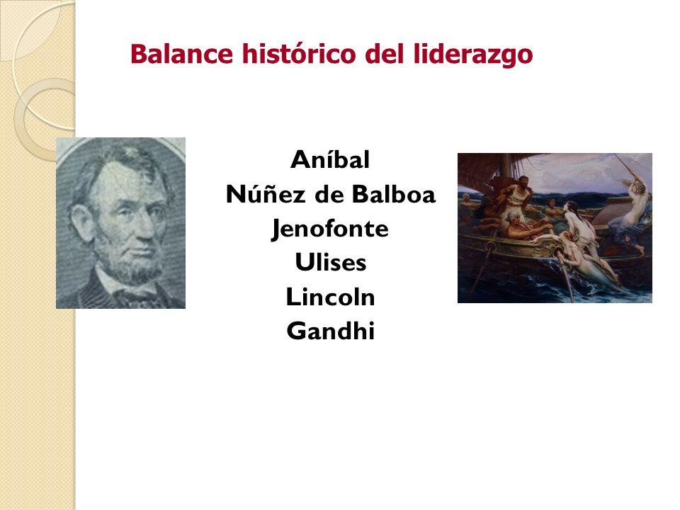 Balance histórico del liderazgo Aníbal Núñez de Balboa Jenofonte Ulises Lincoln Gandhi