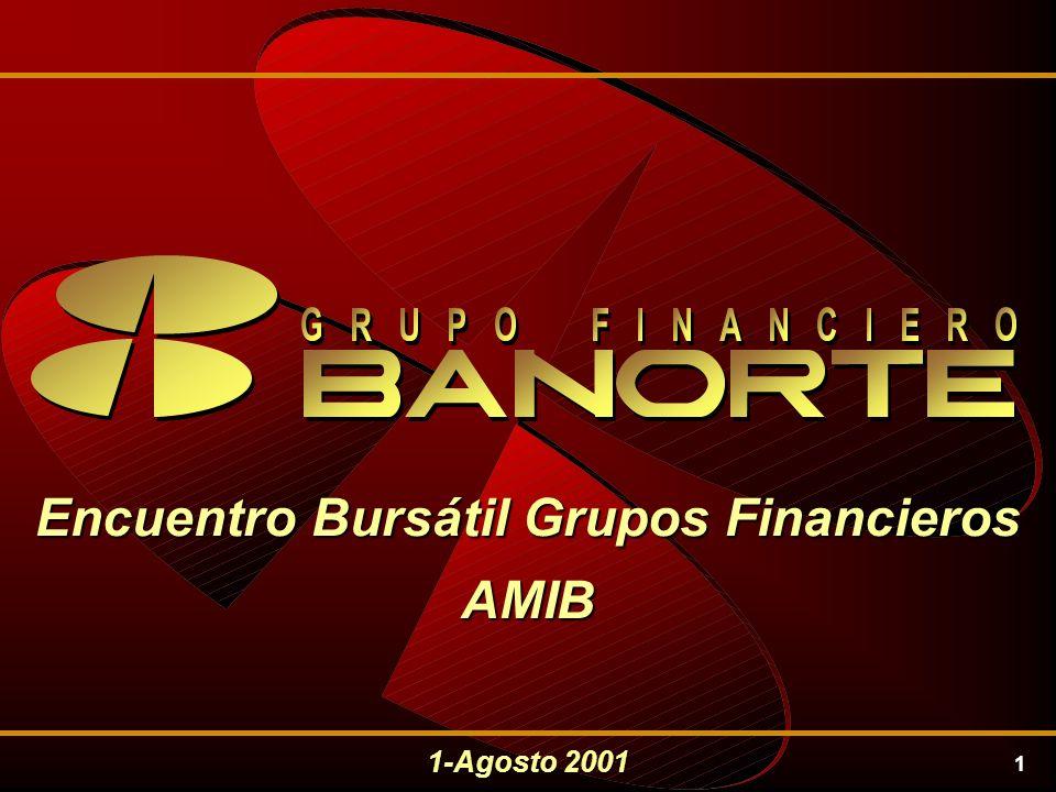 1 Encuentro Bursátil Grupos Financieros AMIB 1-Agosto 2001