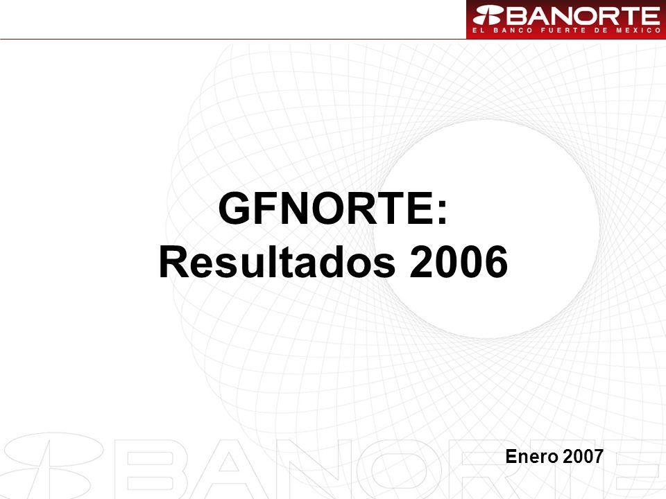 1 GFNORTE: Resultados 2006 Enero 2007