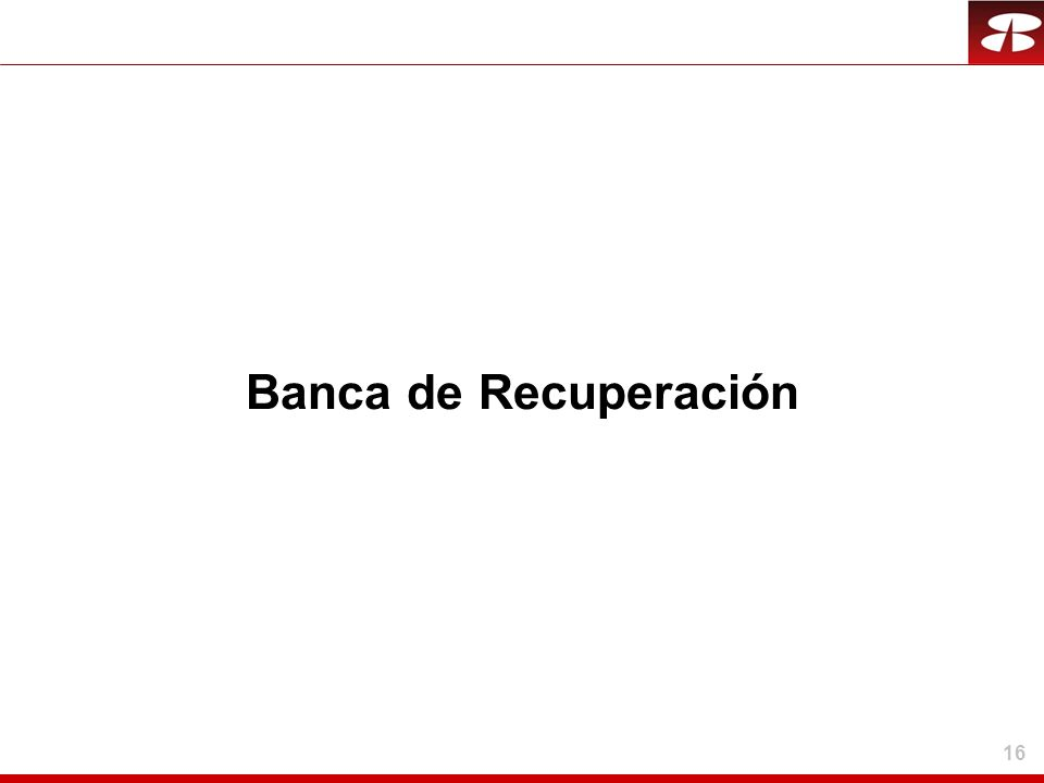 16 Banca de Recuperación