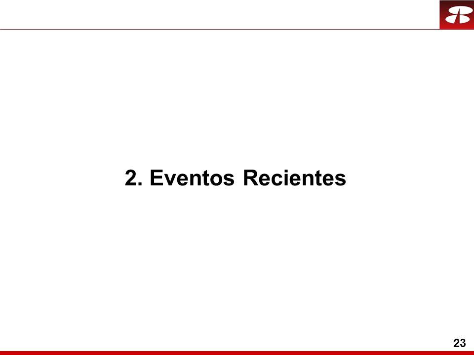 23 2. Eventos Recientes