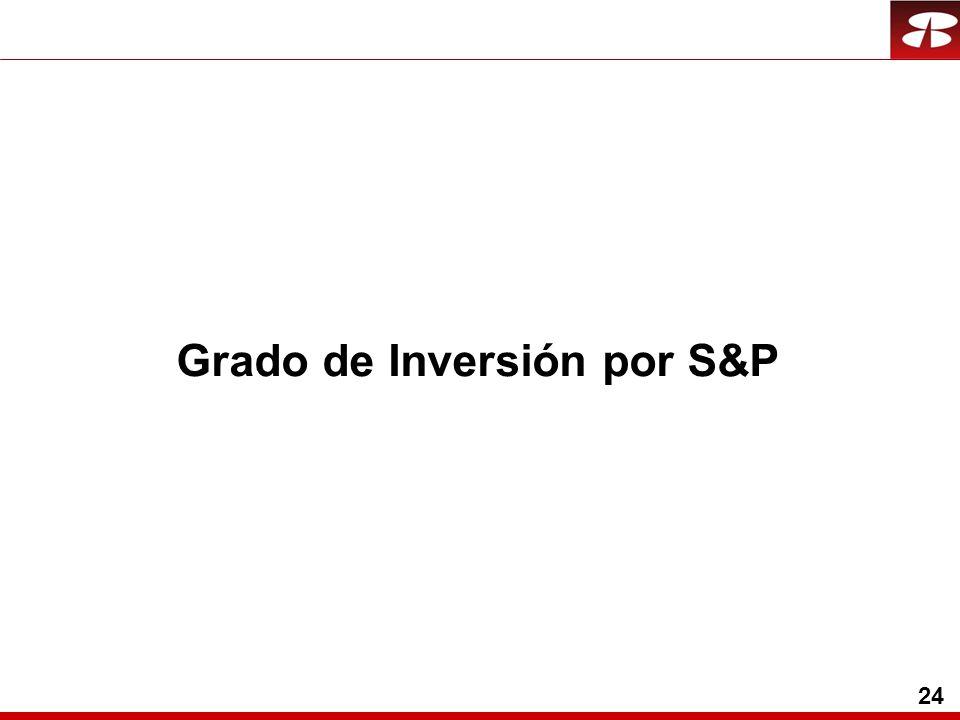 24 Grado de Inversión por S&P