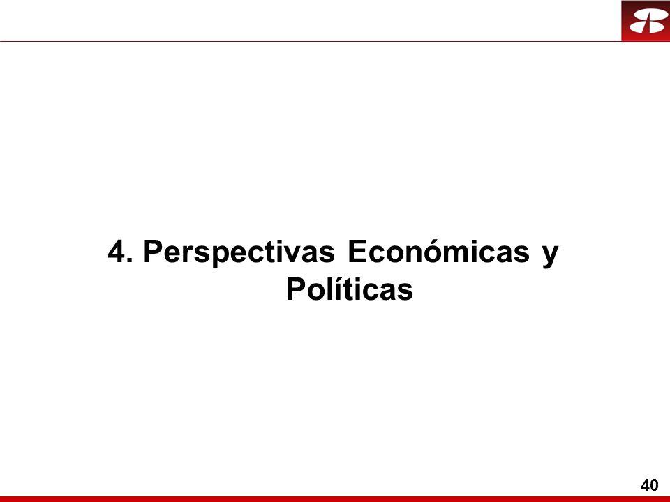 40 4. Perspectivas Económicas y Políticas