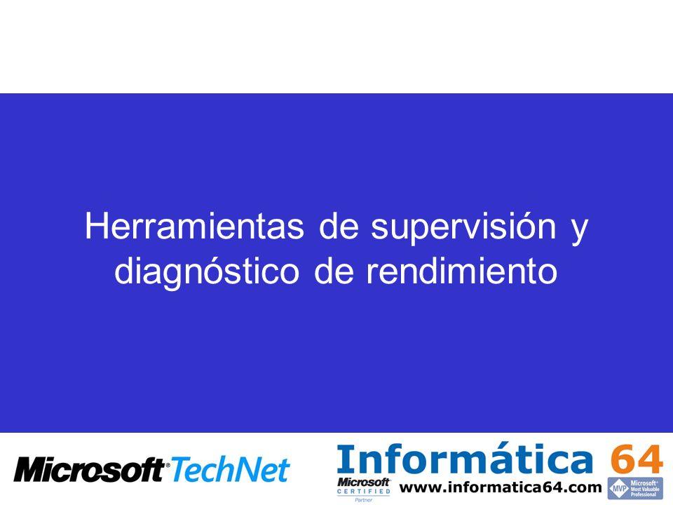 Herramientas de supervisión y diagnóstico de rendimiento
