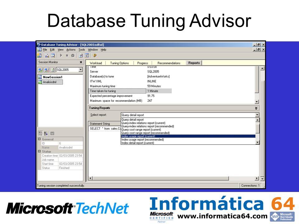 Alta disponibilidad Database Tuning Advisor