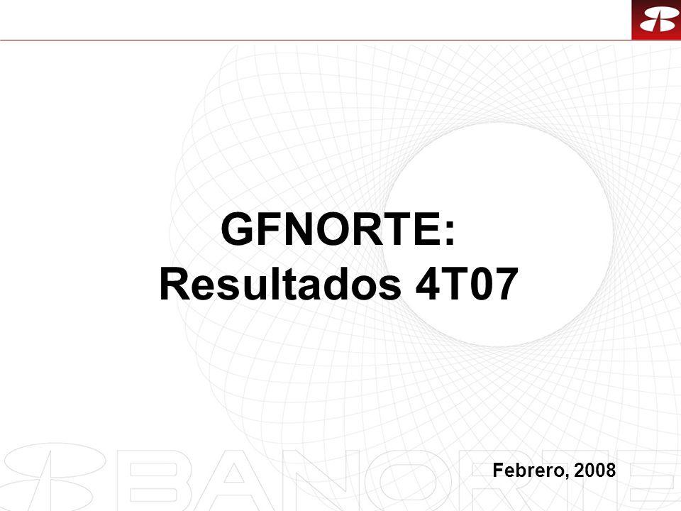 1 GFNORTE: Resultados 4T07 Febrero, 2008