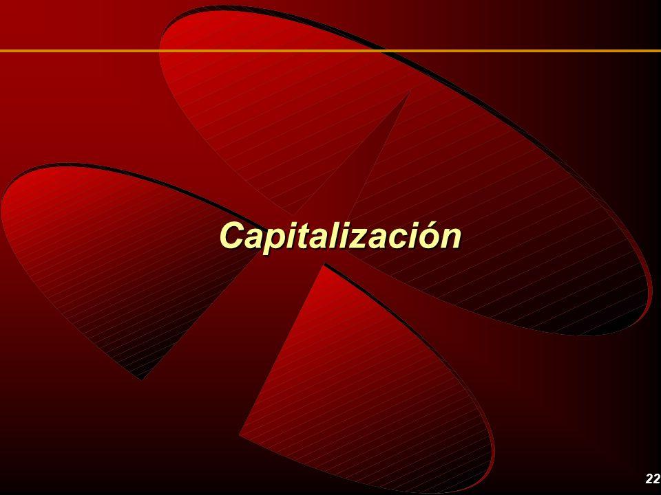 22 Capitalización