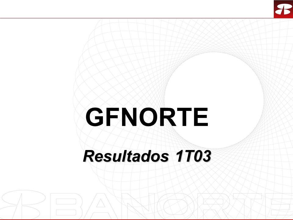 1 GFNORTE Resultados 1T03