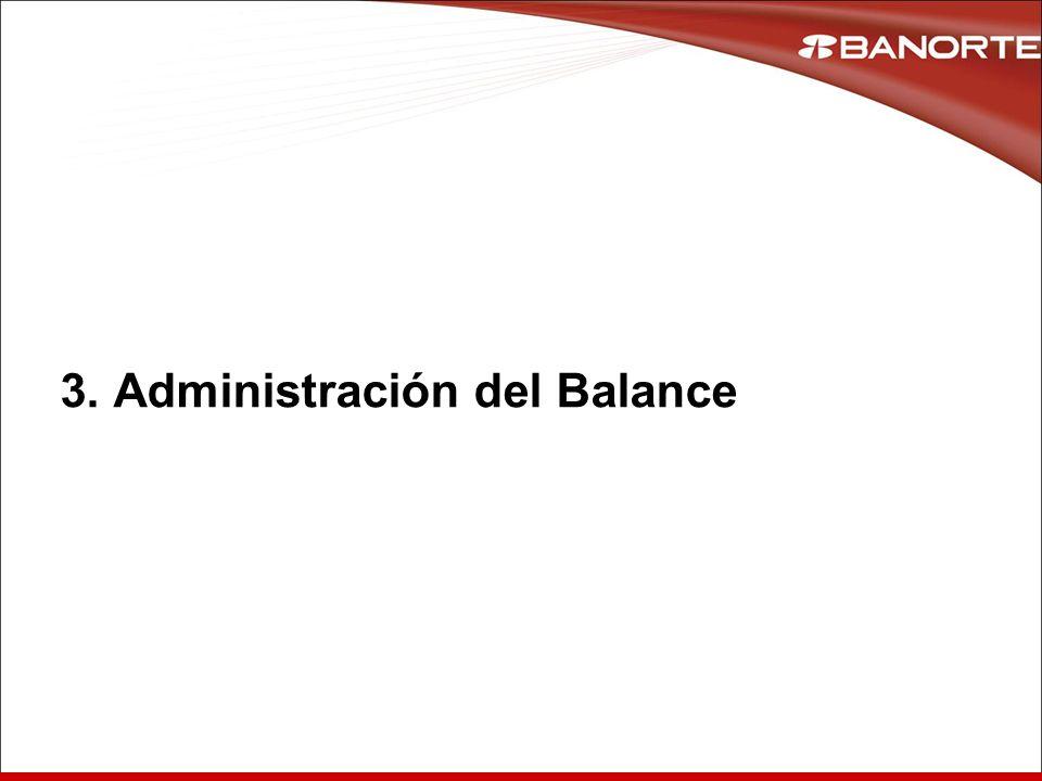 3. Administración del Balance