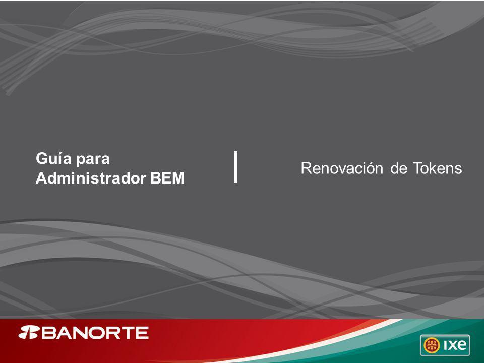 Guía para Administrador BEM Renovación de Tokens
