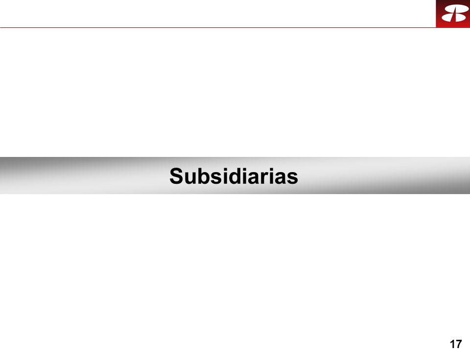 17 Subsidiarias