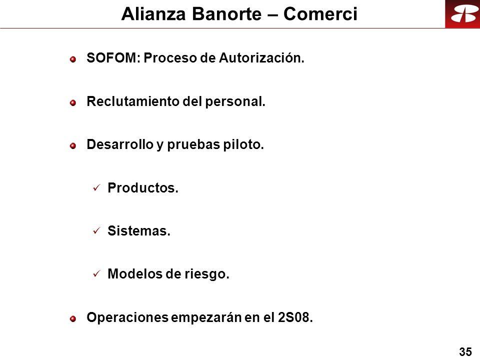 35 Alianza Banorte – Comerci SOFOM: Proceso de Autorización.