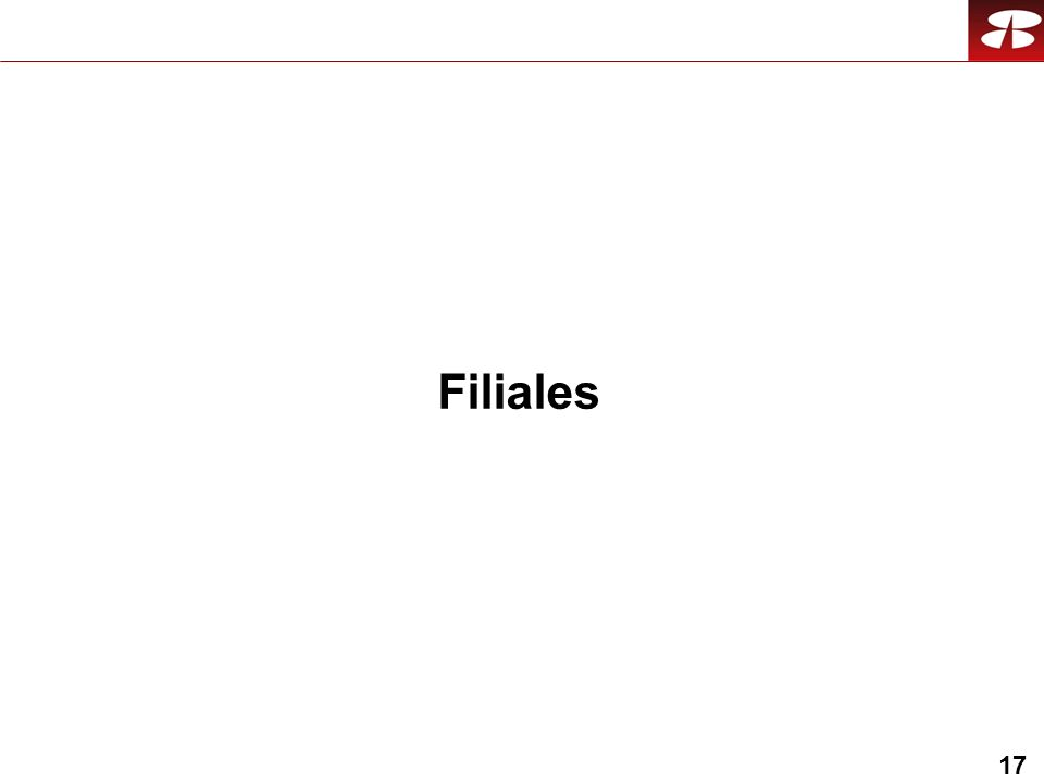 17 Filiales